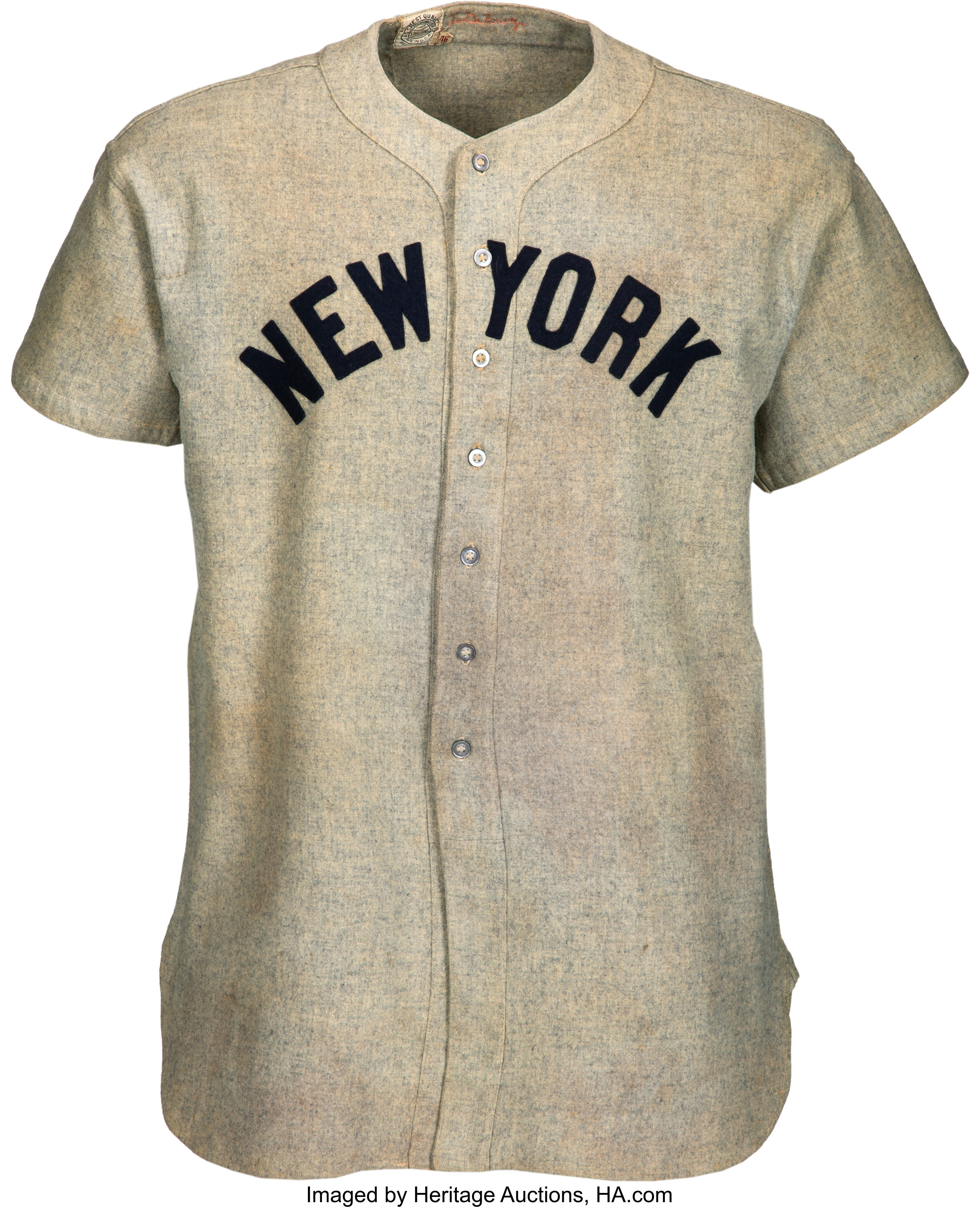 huge selection of b7598 22a99 1937 Lou Gehrig Game Worn New York Yankees Jersey with Photo ...
