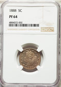 Proof Liberty Nickels, 1888 5C PR64 NGC. NGC Census: (301/354). PCGS Population: (397/352). PR64. Mintage 4,582. . From The Harold and Jan P. ...