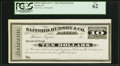 Tuscon, AZ- Safford, Hudson & Co. Bankers $10 in Mexican Silver 18__ Remainder PCGS New 62