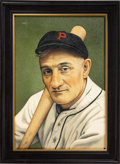 """Baseball Collectibles:Others, 2019 Honus Wagner """"A Man Named Wagner"""" Original Painting by Arthur Miller...."""