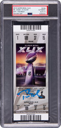 Football Collectibles:Tickets, 2015 Super Bowl XLIX Full Ticket Signed by Tom Brady, Autograph Gem Mint 10. ...