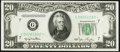 Fr. 2059-G* $20 1950 Federal Reserve Star Note. Choice About Uncirculated