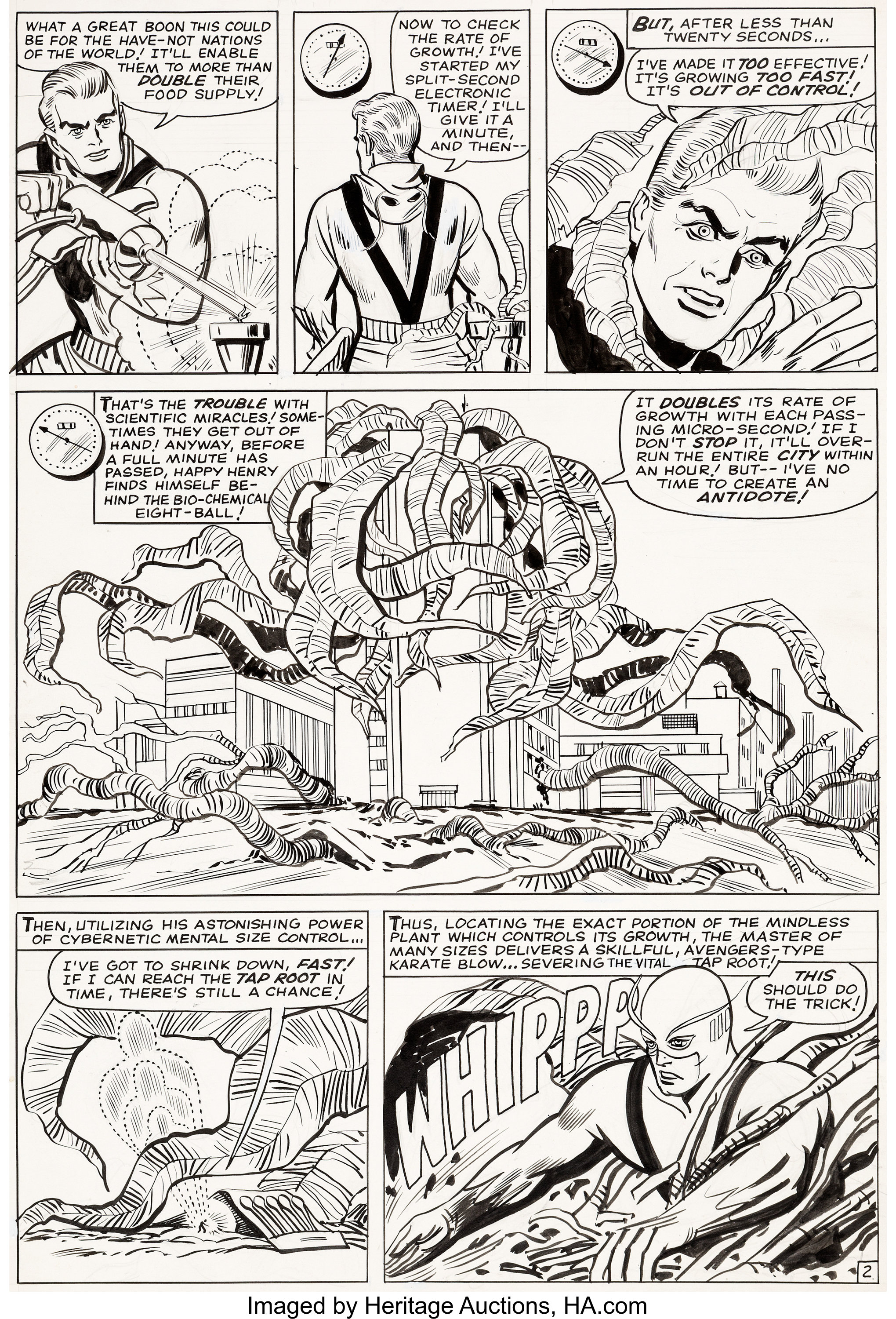Carl Burgos and George Roussos Tales To Astonish #62 Story Page 2 | Lot  #94046 | Heritage Auctions