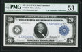 Fr. 1011b $20 1914 Federal Reserve Note PMG About Uncirculated 53