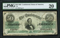 Confederate Notes:1862 Issues, T50 $50 1862 PF-13 Cr. 360 PMG Very Fine 20.. ...