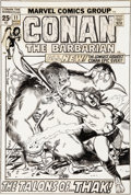 Original Comic Art:Covers, Barry Smith Conan the Barbarian #11 Cover Original Art (Marvel, 1971)....