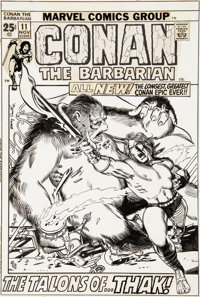 Barry Smith Conan the Barbarian #11 Cover Original Art (Marvel, 1971)