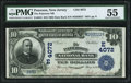 National Bank Notes:New Jersey, Paterson, NJ - $10 1902 Date Back Fr. 618 The Paterson NB Ch. # (E)4072 PMG About Uncirculated 55.. ...