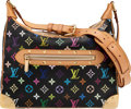 "Luxury Accessories:Bags, Louis Vuitton Black Monogram Multicolore Boulogne Bag.Condition: 2. 12"" Width x 10"" Height x 4"" De..."