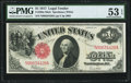 Large Size:Legal Tender Notes, Fr. 39 $1 1917 Mule Legal Tender PMG About Uncirculated 53 EPQ.. ...