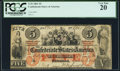Confederate Notes:1861 Issues, T31 $5 1861 PF-1 Cr. 243 PCGS Very Fine 20.. ...