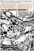 Original Comic Art:Splash Pages, Jack Kirby and Mike Thibodeaux Captain Victory and the GalacticRangers #6 Splash Page 1 Original Art (Pacific Com...