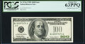 Missing Treasury Seal/Partial Overprint Error Fr. 2176-J $100 1999 Federal Reserve Note. PCGS Choice New 63PPQ