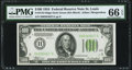 Fr. 2152-H $100 1934 Dark Green Seal Federal Reserve Note. PMG Gem Uncirculated 66 EPQ