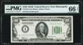 Fr. 2154-I $100 1934B Federal Reserve Note. PMG Gem Uncirculated 66 EPQ