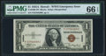 Fr. 2300 $1 1935A Hawaii Silver Certificate. P-C Block. PMG Gem Uncirculated 66 EPQ