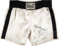 Boxing Collectibles:Memorabilia, 1976 Muhammad Ali Fight Worn & Signed Trunks from Richard Dunn Bout....