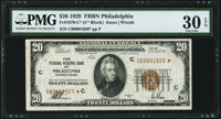 Fr. 1870-C* $20 1929 Federal Reserve Bank Star Note. PMG Very Fine 30 EPQ