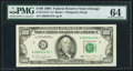 Fr. 2173-G* $100 1990 Federal Reserve Star Note. PMG Choice Uncirculated 64