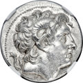 Ancients:Greek, Ancients: THRACIAN KINGDOM. Lysimachus (305-281 BC). AR tetradrachm (29mm, 17.08 gm, 12h). NGC MS★ 5/5 - 4/5, Fine Style....