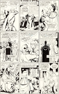 Dave Gibbons Watchmen #11 Story Page 19 Nite Owl and Rorschach Original Art (DC, 1987)