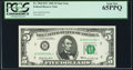 Fr. 1969-B* $5 1969 Federal Reserve Star Note. PCGS Gem New 65PPQ