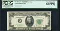 Fr. 2061-G* $20 1950B Federal Reserve Star Note. PCGS Very Choice New 64PPQ