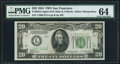 Fr. 2054-L $20 1934 Dark Green Seal Mule Federal Reserve Note. PMG Choice Uncirculated 64