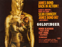 "Goldfinger (United Artists, 1964). Fine/Very Fine on Linen. British Quad (30"" X 40"") Style A"