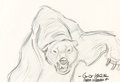 Animation Art:Production Drawing, Beauty and the Beast Grizzly Bear Animation Drawing Signed by Glen Keane (Walt Disney, 1991)....