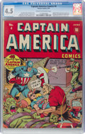 Golden Age (1938-1955):Superhero, Captain America Comics #4 (Timely, 1941) CGC VG+ 4.5 Cream tooff-white pages....