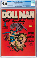 Golden Age (1938-1955):Superhero, Doll Man Quarterly #1 (Quality, 1941) CGC VF/NM 9.0 Off-white pages....