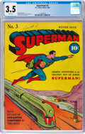 Golden Age (1938-1955):Superhero, Superman #3 (DC, 1940) CGC VG- 3.5 White pages....