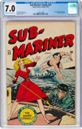 Golden Age (1938-1955):Superhero, Sub-Mariner Comics #23 (Timely, 1947) CGC FN/VF 7.0 Cream to off-white pages....