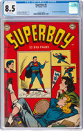 Golden Age (1938-1955):Superhero, Superboy #6 (DC, 1950) CGC VF+ 8.5 Off-white pages....