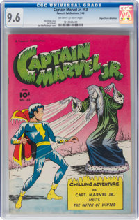 Captain Marvel Jr. #63 Mile High Pedigree (Fawcett Publications, 1948) CGC NM+ 9.6 Off-white to white pages