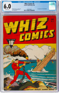Whiz Comics #5 (Fawcett Publications, 1940) CGC FN 6.0 Off-white pages