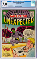 Silver Age (1956-1969):Science Fiction, Tales of the Unexpected #1 Aurora Pedigree (DC, 1956) CGC FN/VF 7.0Off-white to white pages....