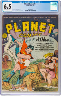 Planet Comics #14 (Fiction House, 1941) CGC FN+ 6.5 Off-white to white pages