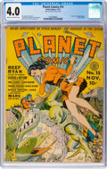Golden Age (1938-1955):Science Fiction, Planet Comics #15 (Fiction House, 1941) CGC VG 4.0 Cream to off-white pages....