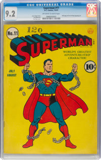 Superman #11 (DC, 1941) CGC NM- 9.2 Off-white to white pages