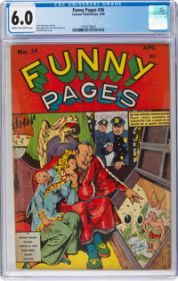 Funny Pages #36 (Centaur Publications, 1940) CGC FN 6.0 Cream to off-white pages