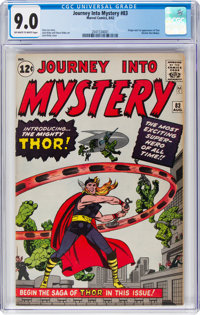 Journey Into Mystery #83 (Marvel, 1962) CGC VF/NM 9.0 Off-white to white pages