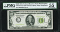Fr. 2152-C $100 1934 Light Green Seal Federal Reserve Note. PMG About Uncirculated 55