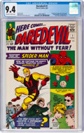 Silver Age (1956-1969):Superhero, Daredevil #1 (Marvel, 1964) CGC NM 9.4 Off-white to white pages....