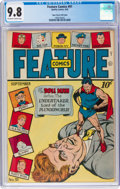 Golden Age (1938-1955):Superhero, Feature Comics #91 Mile High Pedigree (Quality, 1945) CGC NM/MT 9.8 Off-white to white pages....