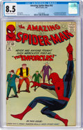 Silver Age (1956-1969):Superhero, The Amazing Spider-Man #10 (Marvel, 1964) CGC VF+ 8.5 Off-white towhite pages....