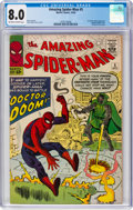 Silver Age (1956-1969):Superhero, The Amazing Spider-Man #5 (Marvel, 1963) CGC VF 8.0 Off-white towhite pages....