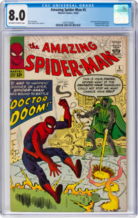 The Amazing Spider-Man #5 (Marvel, 1963) CGC VF 8.0 Off-white to white pages