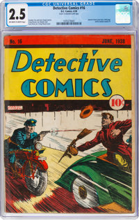 Detective Comics #16 (DC, 1938) CGC GD+ 2.5 Off-white to white pages